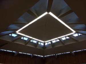 Electrical Work - Lighting fitted in a church