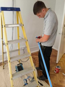 Dakin Electrical Services - fitting mini-trunking- Contact Us page
